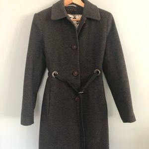 Via Spiga - Wool/Cashmere Blend Car Coat - Gray